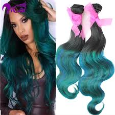 teal hair extensions ombre 2 tone 1b teal green hair weave remy human