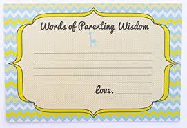 Words Of Wisdom Cards Amazon Com Chevron New Parent Advice Cards 20 Cardstock Cards