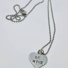 Custom Heart Necklace V And Co Designs Custom Hand Stamped Jewelry