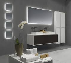 Bathroom Lighted Mirrors by Style Cozy Contemporary Bathroom Mirror With Shelf Full Size Of