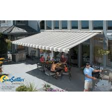 Automatic Patio Cover Sunsetter Motorized Retractable Awnings