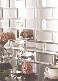 Mirrored Backsplash In Kitchen Mirror Bevel Brick Tiles Will Give Any Environment A Glamorous