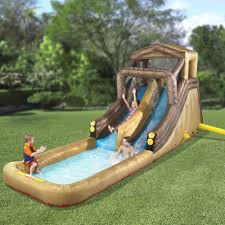 the inflatable backyard log flume hammacher schlemmer