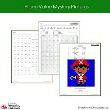 2nd grade place value fundamentals mystery picture coloring
