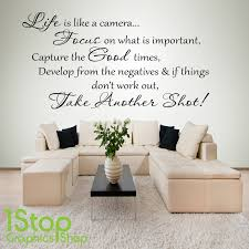 life is like a camera wall sticker quote bedroom home wall art item specifics