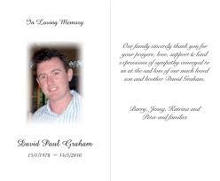 memorial card funeral memorial cards template