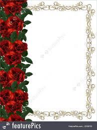 wedding invitation background roses border wedding invitation illustration