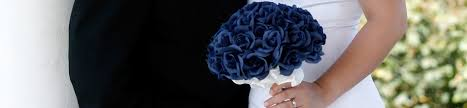 blue wedding bouquets blue wedding bouquets