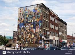hackney peace carnival mural dalston lane london e8 stock photo hackney peace carnival mural dalston lane london e8