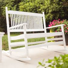 229 cracker barrel 4 u0027 white double rocking chair rta chairs