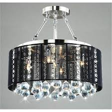 shade crystal chandelier black drum shade chrome crystal ceiling chandelier light up my