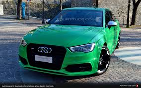 green porsche find of the day audi exclusive porsche green s3 sportback in