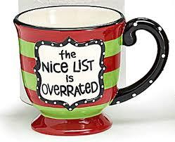 christmas mug the list is overrated christmas mug