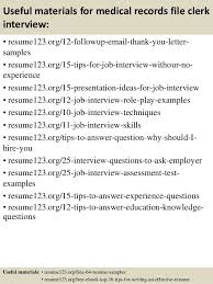 Scanning Clerk Resume File Clerk Jobs Top 10 File Clerk Interview Questions And Answers