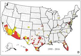map of usa zika new map shows where zika mosquitoes live in u s nbc news