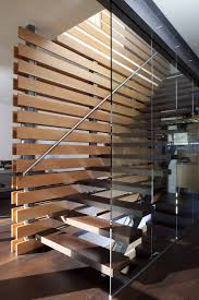 Wood Divider Awesome Modern Staircase Design With Brown Polished Wooden Step