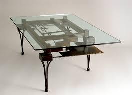 steel glass coffee tables table bases custom made lisa