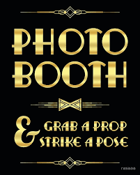 photo booth sign great gatsby party photo booth sign posters by rasaaa redbubble