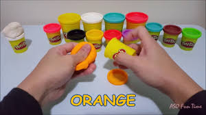 learn colours with playdoh 2 white orange pink black yellow