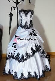 Black And White Wedding Dress Scarlett Black And White Wedding Dress Weddingoutlet Com Au