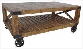 Rustic Coffee Table On Wheels Rustic Coffee Table Wheels Enhance Impression Derek Lloyd Dean