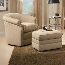 Swivel Chairs For Living Room by Barrel Swivel Chair And Ottoman With Casters By Smith Brothers