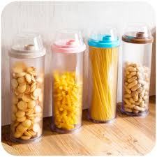 kitchen tall canisters with colorful lids different types