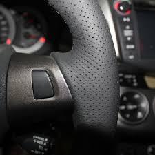 toyota corolla steering wheel cover diy genuine leather auto steering wheel cover for toyota corolla