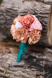 diy how to make a dried paper flower wedding bouquet washington