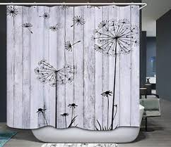 Shower Curtains Rustic Barn Board Thistle Shower Curtain Rustic Black White Gray