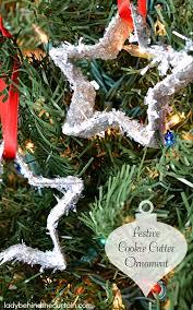 festive cookie cutter ornament