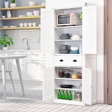 wooden kitchen pantry cupboard homcom free standing kitchen pantry traditional kitchen