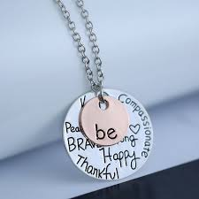 girl necklace pendant images Long chain pendant necklaces be happy charms necklace cute girl jpg