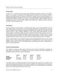 4 game inc business plan