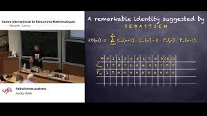 pattern with palindromic numbers srecko brlek palindromes patterns youtube