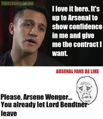 Contract Law Meme - arsenal fans and alexis sanchez s new contract troll football