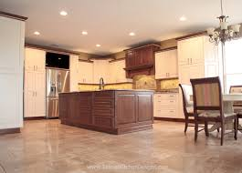 two toned custom kitchen cabinets with a traditional flare