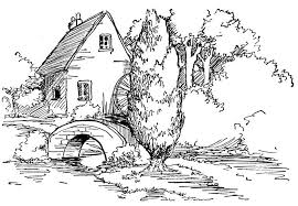 Free Printable Coloring Pages For Adults Landscapes | landscape coloring pages getcoloringpages com