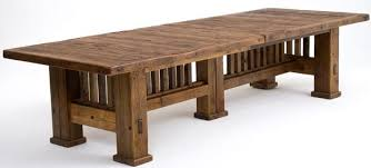 reclaimed barnwood dining table mission style dining mission style