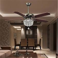 Retro Ceiling Fans by 2017 Retro Ceiling Fans Luxury Crystal Light Lamp With Remote