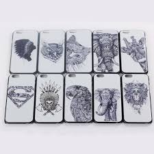 new cute animal drawing plastic case for iphone 6 4 7