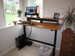 Diy Desk With File Cabinets by Homemade Standing Desk Showcases Creative Idea That Helps You