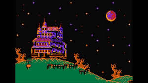 pixel halloween background haunted house chiptune youtube