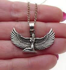 photo necklace pendants images Silver isis pendant egyptian goddess necklace silver enchantments jpg