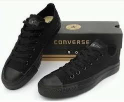 Sepatu Converse Black jual sepatu converse black sepatu sekolah converse fans