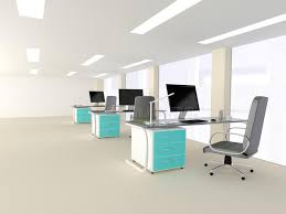 bureau lumineux intérieur d un bureau minimaliste moderne lumineux photo stock