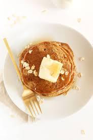 Pancake Flour Whole Grain Vegan Pancakes Minimalist Baker Recipes
