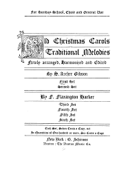 old christmas carols gibson archer imslp petrucci music