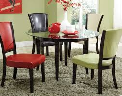 table exquisite round glass dining table 6 chairs exotic round