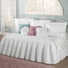 intrigue chenille ruffled flounce daybed bedding set